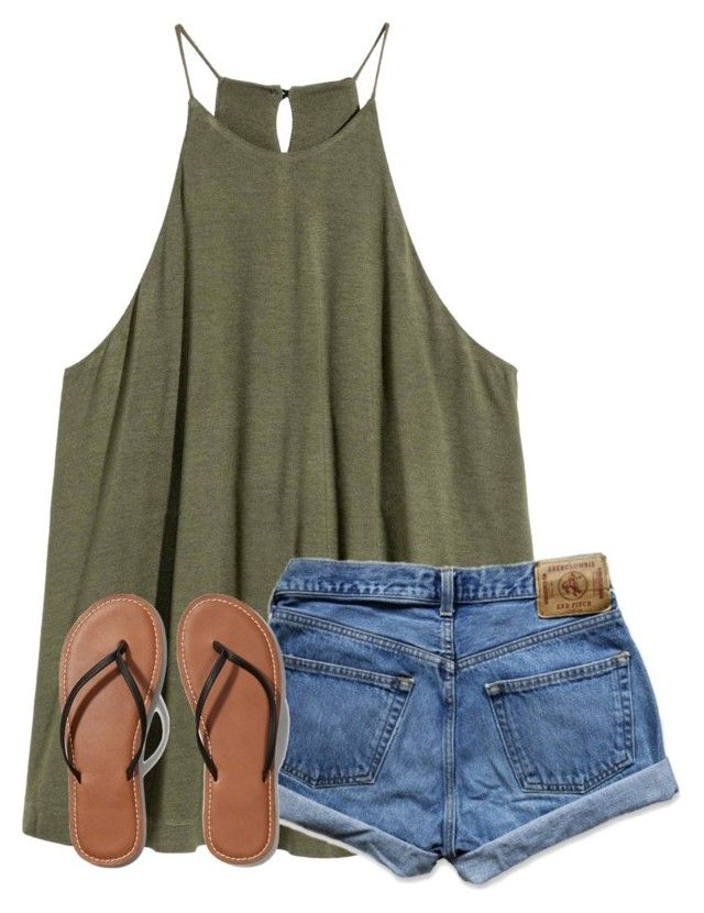 Beach Party! by ponyboysgirlfriend on Polyvore featuring Abercrombie & Fitch