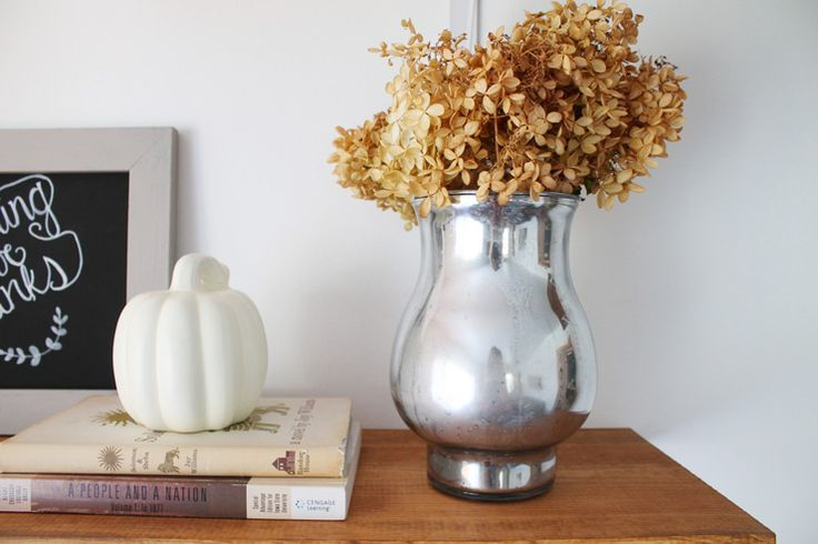 Turn any thrift store vase into a beautiful mercury glass vase using spray paint