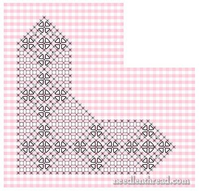 Gingham Lace / Chicken Scratch Embroidery Pattern from the fabulous Mary Corbet