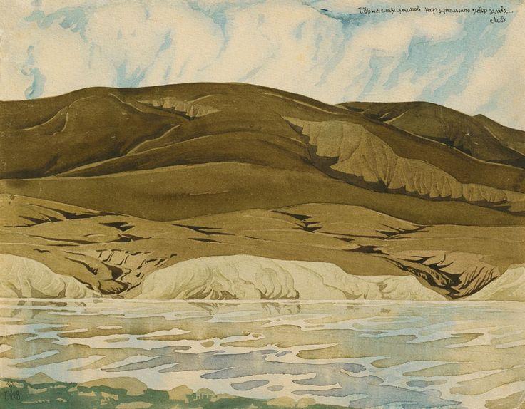 Вид Коктебеля. Бурые холмы Волошин Аква