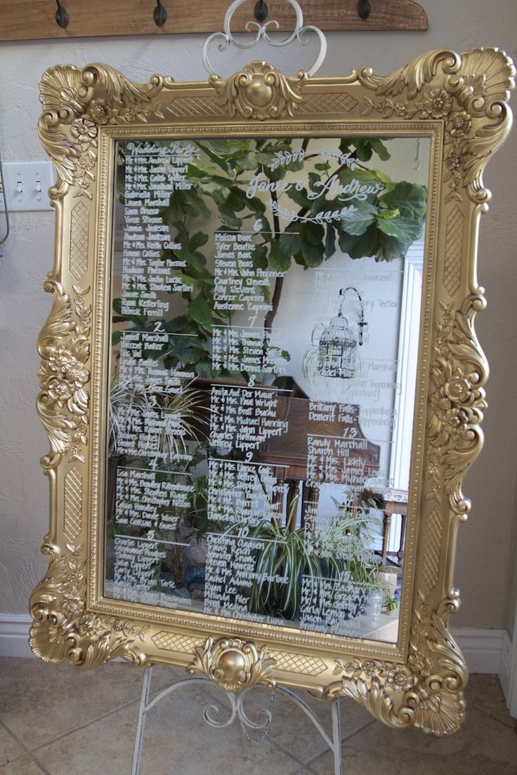 best 25 mirror seating chart ideas on pinterest wedding table
