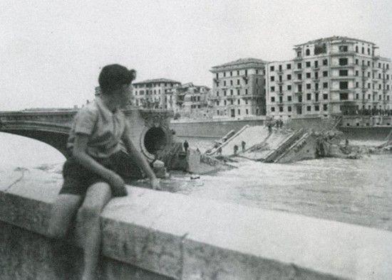 Ponte della vittoria bombardato 1945 Verona