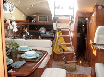 Boat Interior Design Ideas boat interioraudi visuals bang olufsen Boat Interior Hunter 50 Sail Magazine