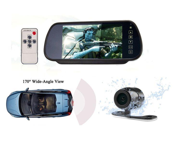 "7"" TFT LCD Car Rearview Espelho Carro Mirror Monitor DC 12V Car Parking Monitors for Backup Reverse Pantalla Camara Marcha atras"