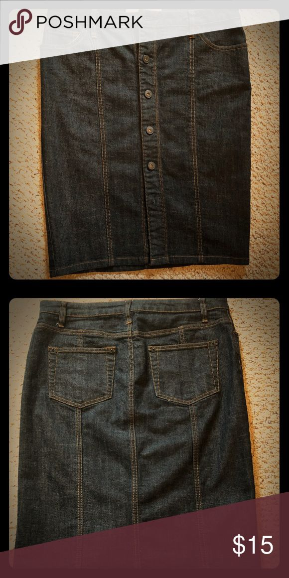 Button Denim Jean Skirt Buttoned Stretch Denim Skirt Skirts Midi
