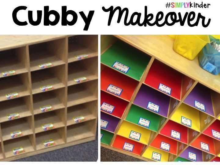 Cubby Makeover by Simply Kinder! - Simply Kinder