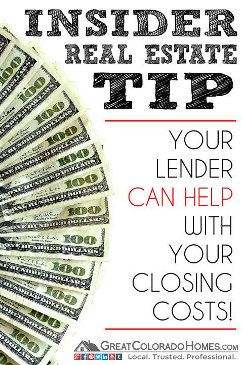 Did you know that your lender can help with closing costs when you purchase a home? #realestate