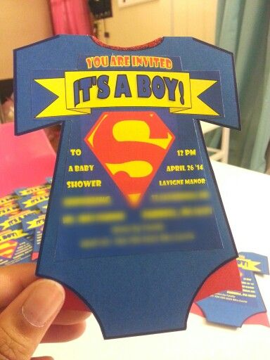 Elegant Superman Baby Shower Invite Ideas