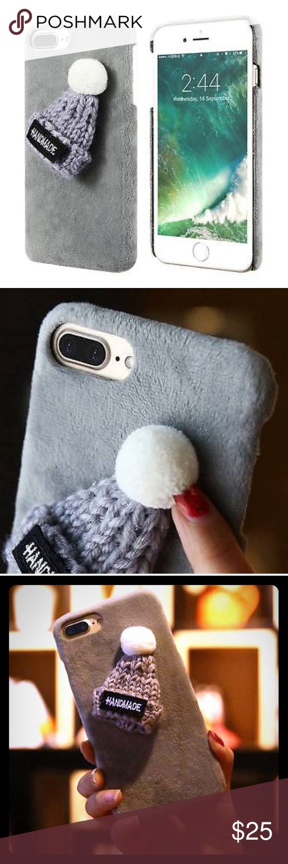 🎉HOST PICK 10/21🎉 Adorable Beanie Case iPhone 7+ 😍 Super-super cute plush case, with knitted beanie finger warmer/ case holder. No words for how dang cute this case is! Opened buttons and ports access for easy usage 👍🏼 fall and winter season is right around the corner, get this cutie while in stock and keep those fingers warm 😉 would make a great gift for Christmas 🎄 Other iPhone sizes and colors available, check out my other listings. New in package 😊 ** Hot New Style, Sells Out…