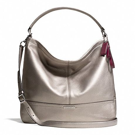 coach satchel bag outlet uun8  Coach F23293 Park Leather Hobo Silver/Pewter