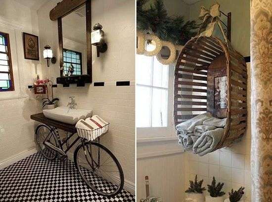 Upcylced bathroom ideas bathroom design stuff pinterest for Small bathroom ideas on pinterest