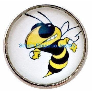 #4091 Yellow Jacket Bee Snap 20mm