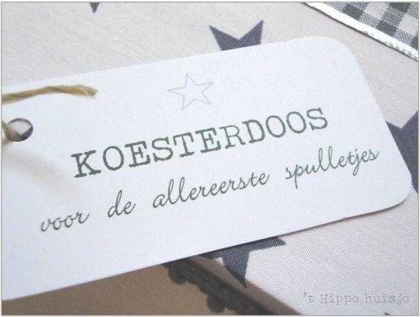 't HIPPE HUISJE: Koesterdoos Stijn
