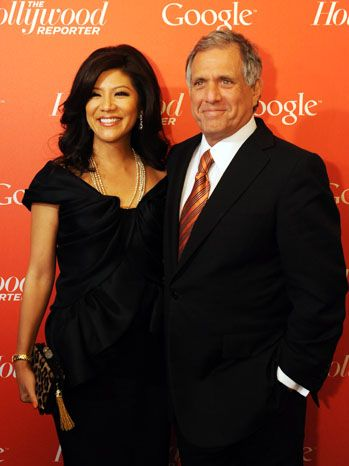 Julie Chen and Leslie Moonves  CBS CEO Leslie Moonves and wife Julie Chen, who hosts The Talk, at The Hollywood Reporter and Google's event.