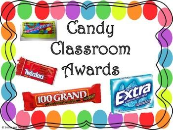 These are candy awards to pass out to students that match their personalities…