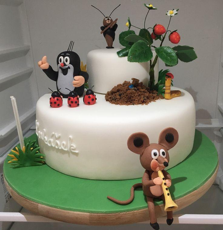 Children Little Mole Cake, dort krtecek