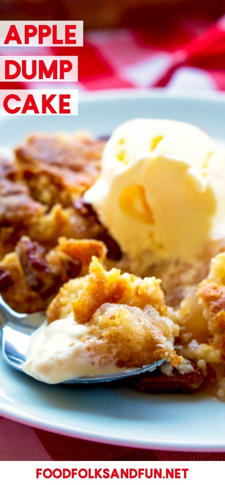 Apple Dump Cake ist ein einfaches und unwiderstehliches Herbstdessert, das aus … – #apple # … – Cake Recipes Strawberry Ideen