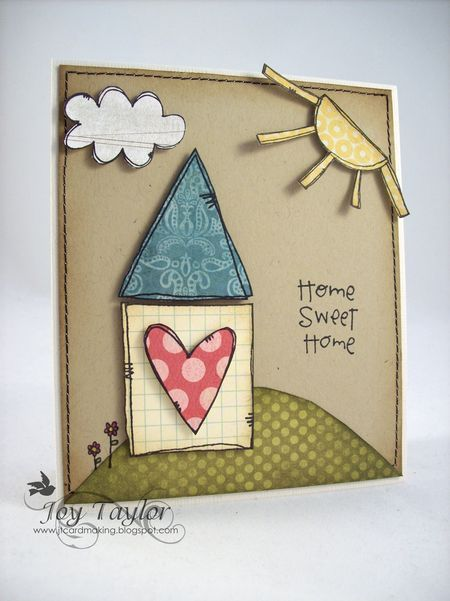 Joy Taylor - Home Sweet Home Card  דודל מסביב. כמה פשוט ויפה
