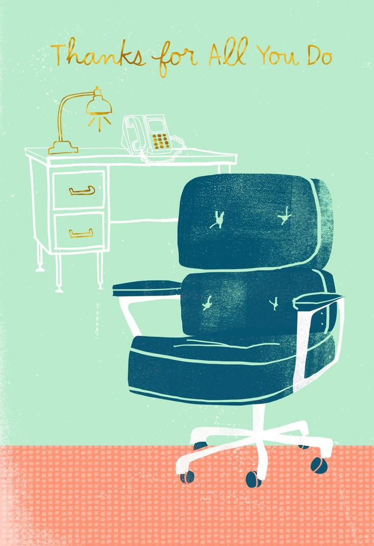 Celebrate your secretary with candid appreciation in this classy Administrative Assistant greeting. Card features sketch of a vintage-style office chair and desk and gold foil accents.
