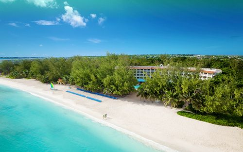 NOW ON SALE AT WESTJET.COM Save $1000 and receive your first night free at Sandals Barbados. Limited time offer. Save $1000 instantly* and receive your first night free when you book a minimum 7-night vacation package to Sandals Barbados.