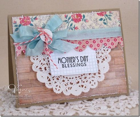 Mother's Day card by Maureen Plut using On Occasion from Verve Stamps. #vervestamps