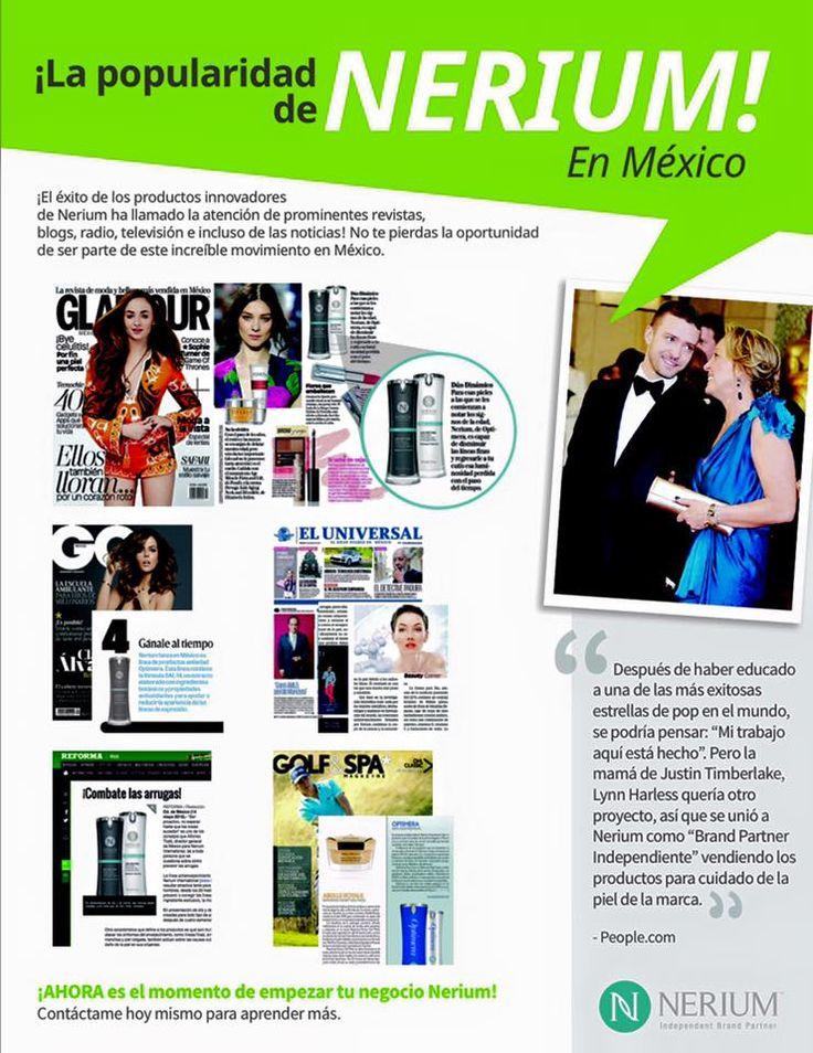 Los medios recomiendan Nerium! El porque es simple: ciencia y naturaleza: Resultados Reales http://beautyskin1.nerium.com.mx