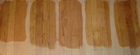 From Left To Right These Are Ipswich Pine Golden Oak Cherry Golden Pecan Colonial Maple
