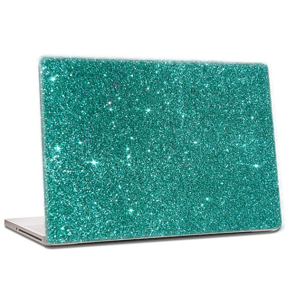 Teal Glitter Laptop Skin Extra Fine By Iridescentbeauty On