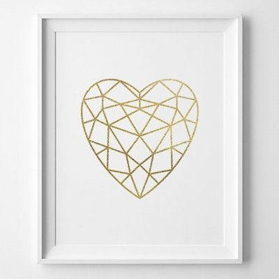 Affiche coeur géométrique - 8,23 euros                                                                                                                                                                                 Plus