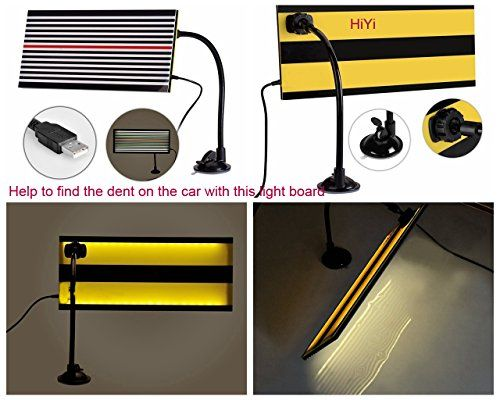 HiYi PDR Led Stripe Line Board Paintless Dent Removal Repair Tool with Ajustment Holder And 5m Long Line White light *** You can find more details by visiting the image link.