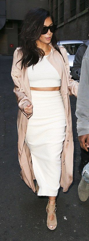 Kim Kardshian steps out for romantic afternoon with her rapper man #dailymail