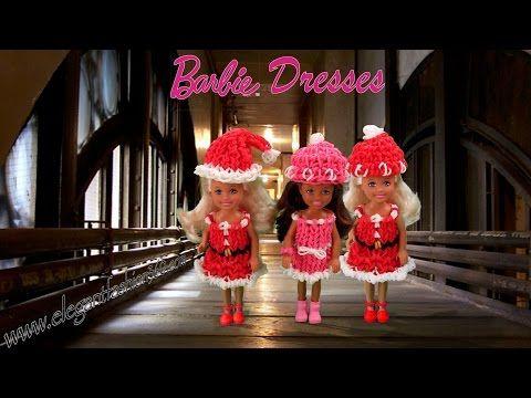 Rainbow Loom Barbie Dress/Christmas/Holiday Wearable - How to Loom Bands Tutorial - YouTube