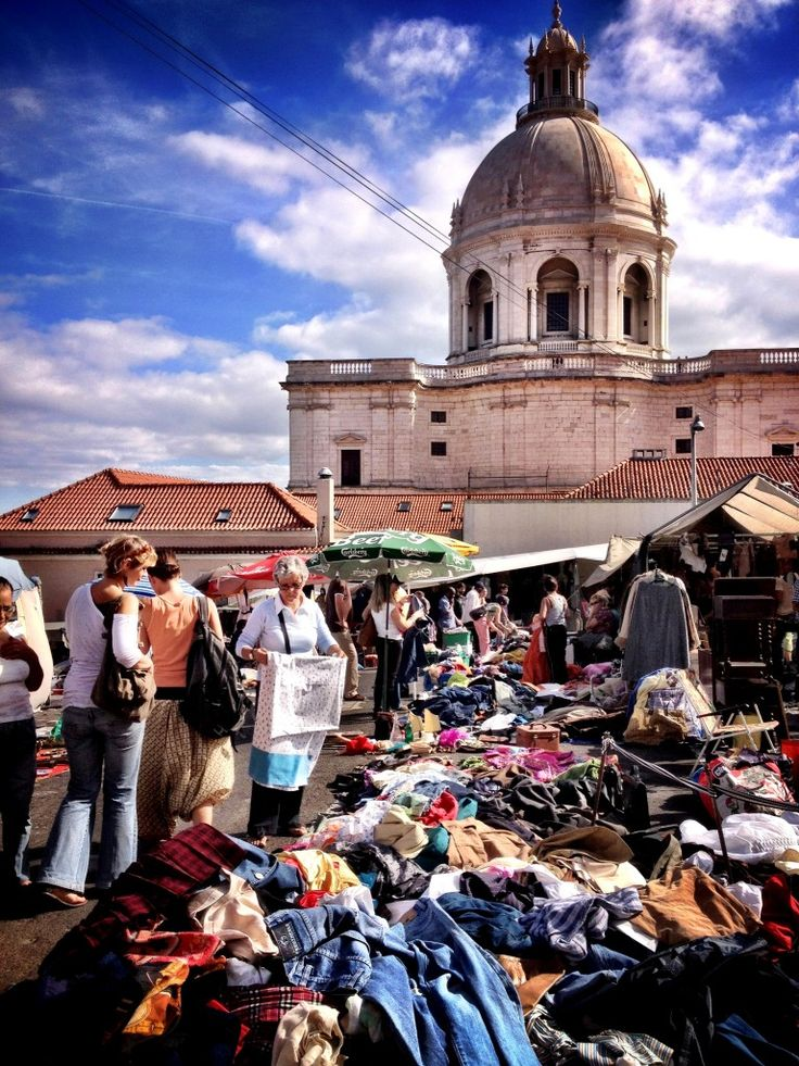 """Thieves market"" - Feira da ladra, Lisbon, Portugal"