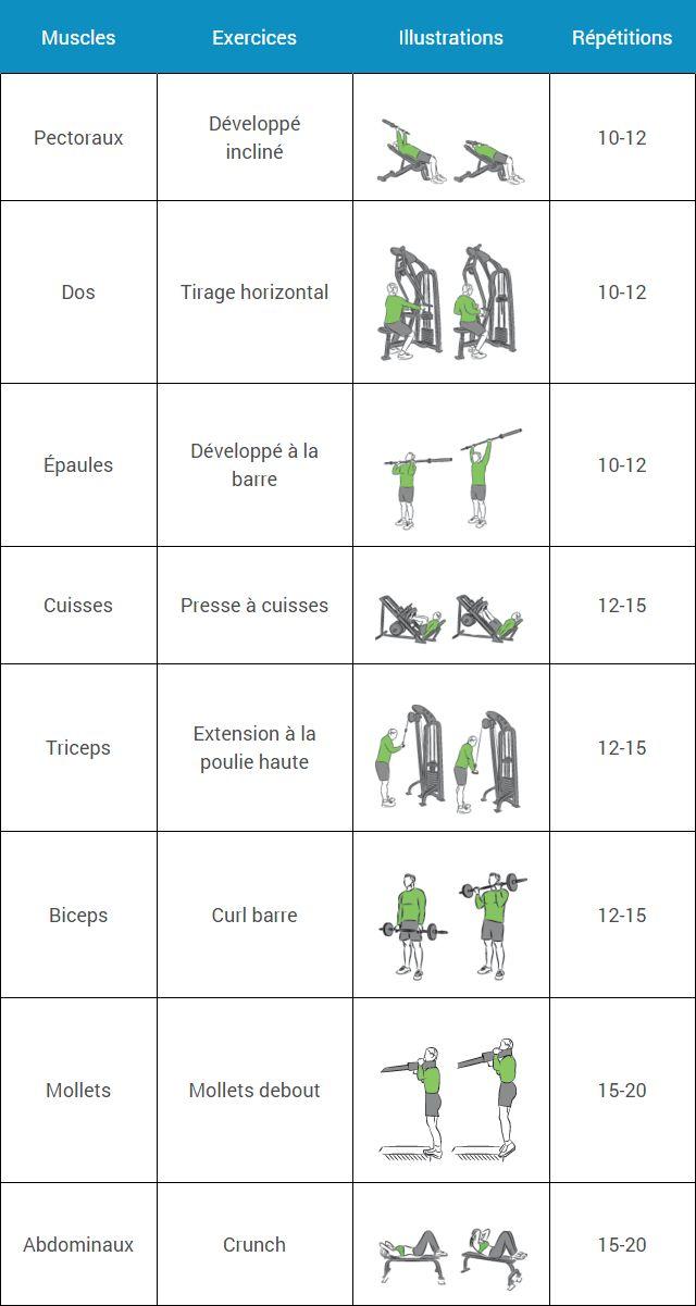 15 best ideas about appareil de musculation on pinterest for Programme de musculation