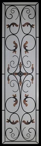 Wrought Iron Door Inserts - Bellwood 22x80