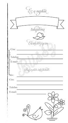 Információs oldal filofaxban, gyűrűs kalendáriumba - InDesign és Illustrátor gyakorlása