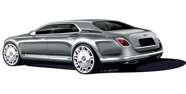 Bentley Mulsanne Sketch by Crispin Marshfield
