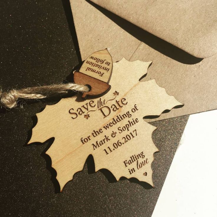 Autumn Leaf Hanging Save The Date
