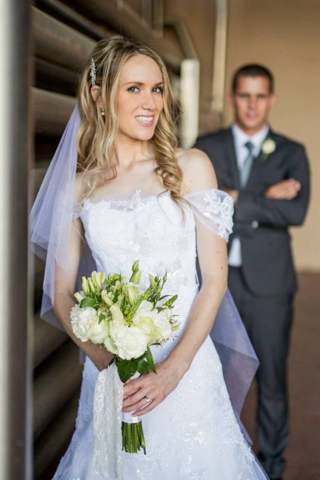 Bride Xanthe in her Sonja dress by Maggie Sottero