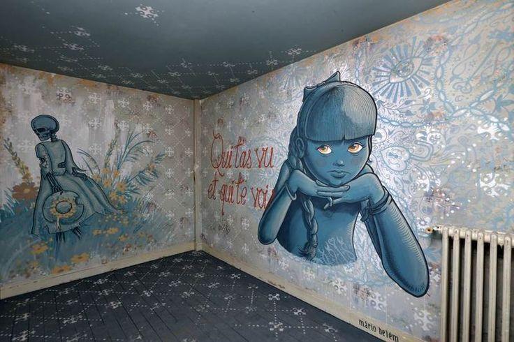 een slaapkamer, door de Portugese kunstenaar Mario Belem. ©