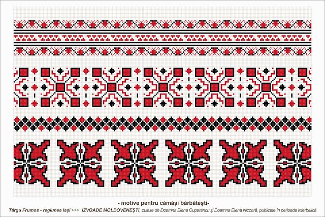 Semne Cusute: romanian traditional motifs: MOLDOVA - Iasi - Targu Frumos