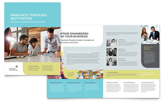 Small Business Consultant Brochure Template Design by StockLayouts