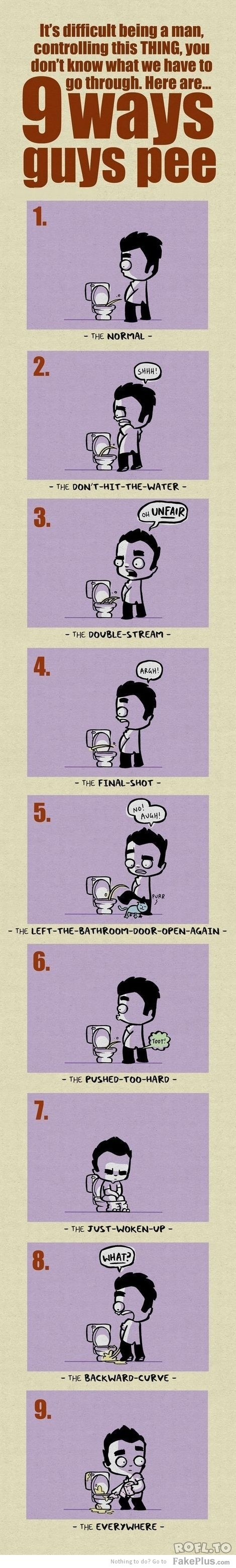 how men pee - Sorry, but us guys can relate to this!