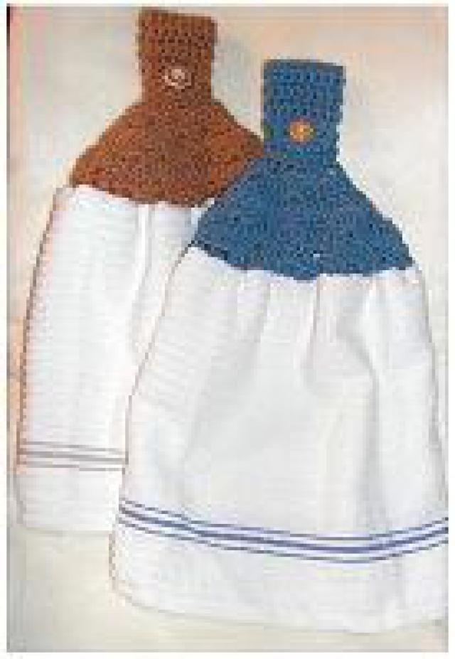 43 best crochet towel toppers images on Pinterest   Tea towels, Dish ...