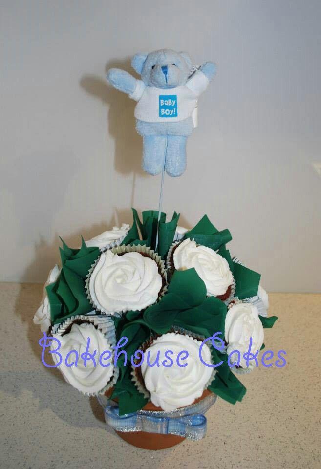 It's a boy cupcake bouquet