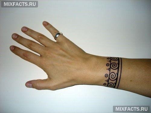 татуировки браслетом кельтский орнамент