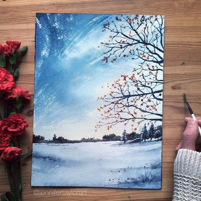 Varázslatos festmények | Forrás: Jennifer Taylor via boredpanda.com