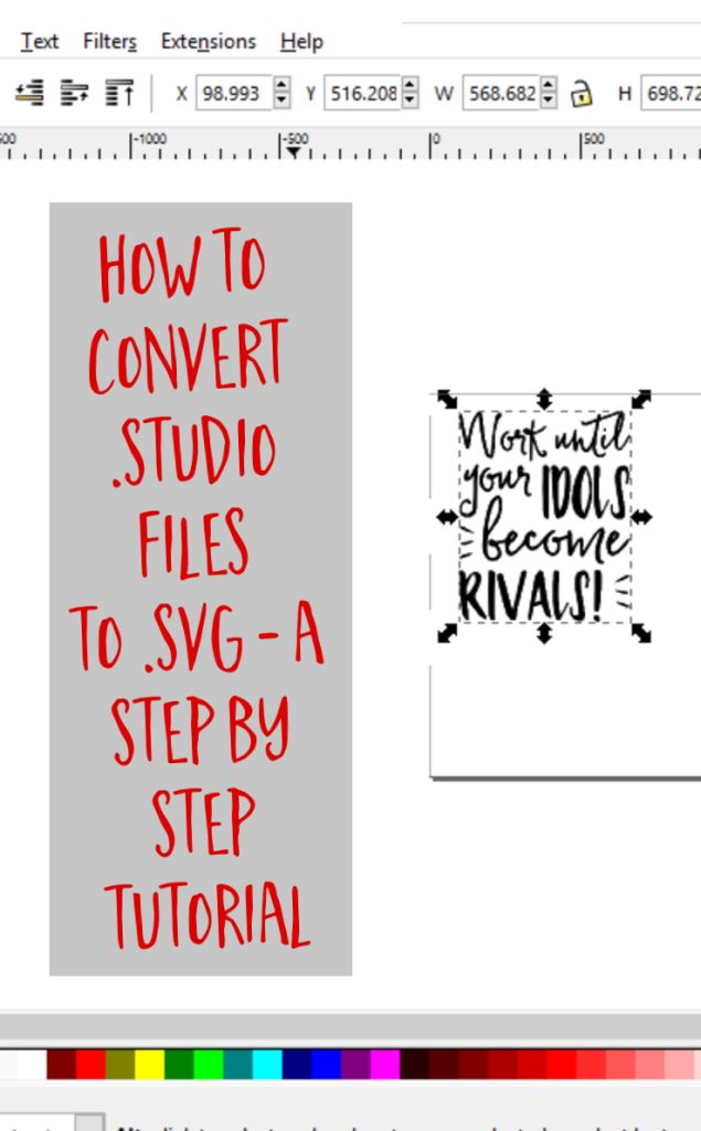 How to Convert .studio or .studio3 to .svg from Silhouette Studio by cuttingforbusiness.com