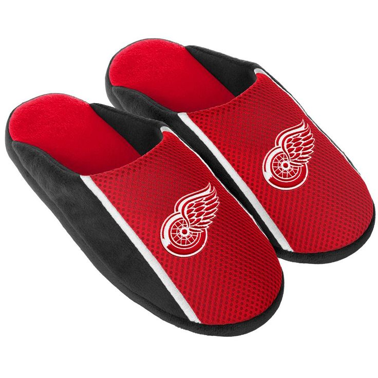 Detroit Red Wings Slippers Jersey Slide House Shoes