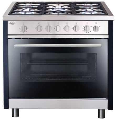 matrix mr311ss single oven 90cm gas range cooker stainless steel